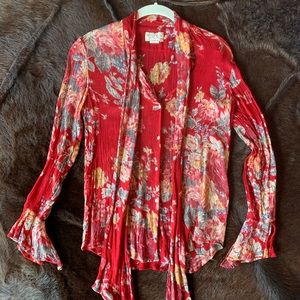 Ralph Lauren Denim Supply Blouse Red Small Petite